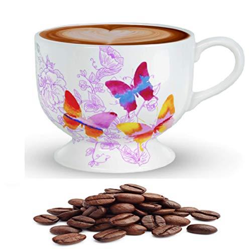 Teleflora Gifts - Butterfly Sunrise Oversize Ceramic Mug, Floral Vase or Candy Bowl - 20 Ounce