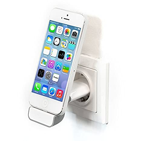 iprotect Soporte cargador USB docking station blanco y gris para Apple iPhone 5 5s 5c iPhone 6 (4,7 Zoll) iPod Touch 5G Nano 7G
