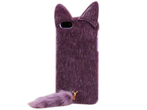 DE New Fashion Cartoon Animal Series Purple With - Cat Iphone 4 Case