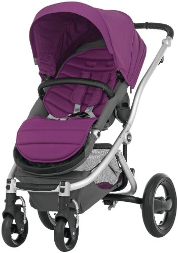 Britax Affinity Complete Stroller - Cool Berry - Silver