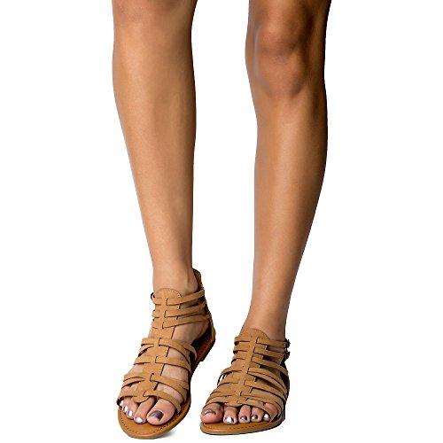 Bambu Kvinna Havsstrand-84v Sandal Sandal Tan