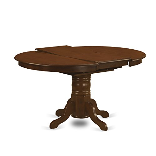 East West Furniture KET-ESP-TP Kenley Oval Single Pedestal Dining Table with 18 Butterfly Leaf, 42 x 60
