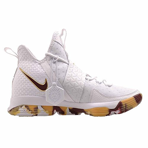 Lebron XIV Basketball Shoes Size 9.5 White/Team Red Gum Light Brown cP2Rqpj
