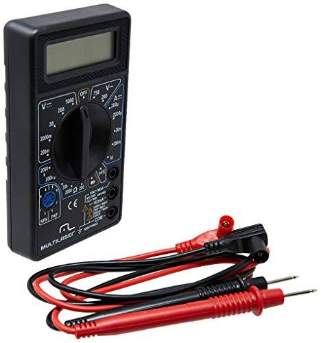 Multilaser Multímetro Digital Corrente Ac + Dc Tensão 200M~1000V Bateria 9V Preto - Au325