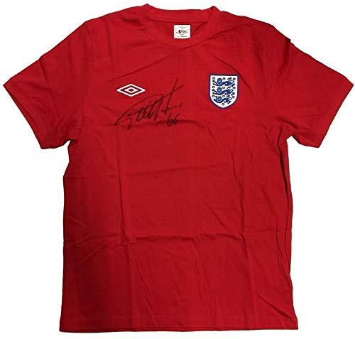 (Sir Geoff Hurst Autographed Signed England Umbro Replica Jersey Bas)
