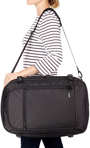 AmazonBasics - Mochila de equipaje de mano - Negro