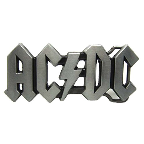 AC DC Belt Buckle ACDC Logo Rock Band Punk Music Style