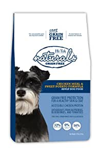 Hi-Tek Naturals Grain Free Chicken Meal and Sweet Potato Formula Dry Dog Food, 15 Pounds