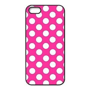 ALICASE Diy Customized Hard Case Polka dot for iPhone 5,5S [Pattern-1]