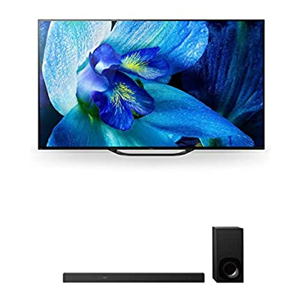 """Sony XBR-55A8G 55"""" BRAVIA OLED 4K HDR TV and HT-Z9F 3.1-Channel Dolby Atmos Soundbar with Subwoofer 1"""