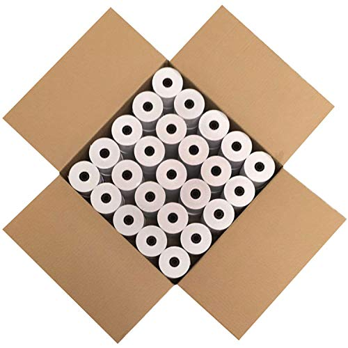 FHS Retail Thermal Paper Cash Register Rolls, 3 1/8 x 230', 50 Rolls In Case, Made in USA/Canada by FHS Retail (Image #1)