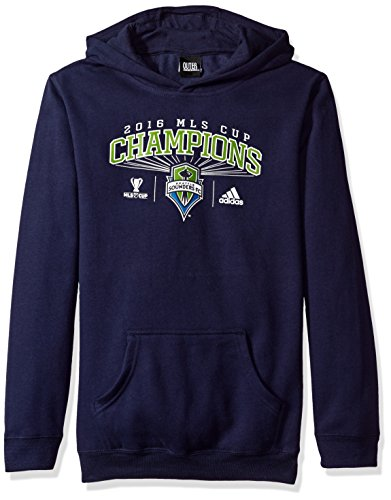 - MLS Seattle Sounders FC Boy's 8-20 Fleece Champs Hoodie, Navy, Large/Size 14-16