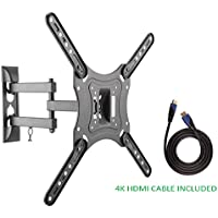 Jestik TV Wall Mount - Rotating TV Wall Mount, Wall Mount TV Bracket, TV Mounts For Flat Screens - Easy Mounting Solution - For Most 23 to 55 inch LED LCD Flat Panel Smart TVs Plus HDMI Cable (JM-L44)