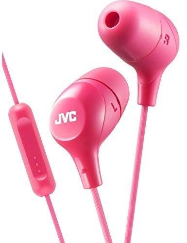 JVC Memory Foam Earbud Marshmallow Memory Foam Earbud with Mic Pink (HAFX38MP) (Jvc Pink Marshmallow Headphones)