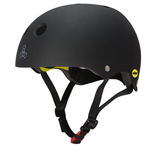 Triple Eight Dual Certified MIPS Bike and Skateboard Helmet, Black Matte, Large/X-Large