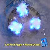 3 Jet Pond Fogger W/RGB LED's and Remote Control