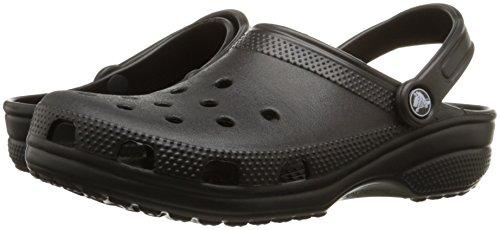 crocs Unisex Classic Clog, Black, 13 US Men / 15 US Women