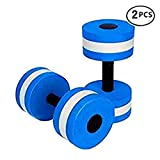 BigBoss Sports Aquatic Exercise Dumbbells Aqua Fitness Barbells Exercise Hand Bars - Set of 2 - For Water Aerobics