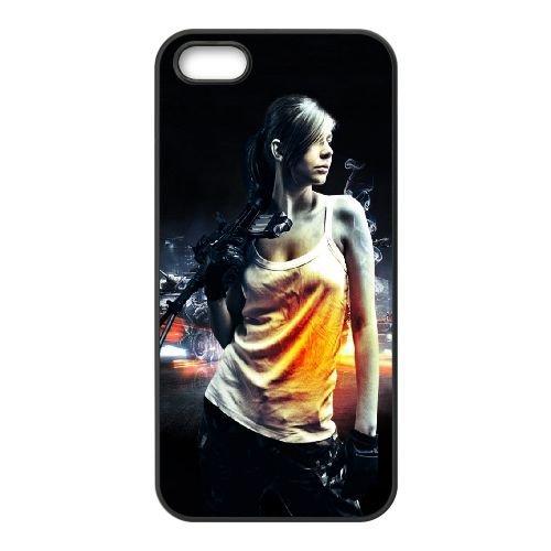 Girl1 coque iPhone 4 4S cellulaire cas coque de téléphone cas téléphone cellulaire noir couvercle EEEXLKNBC25412