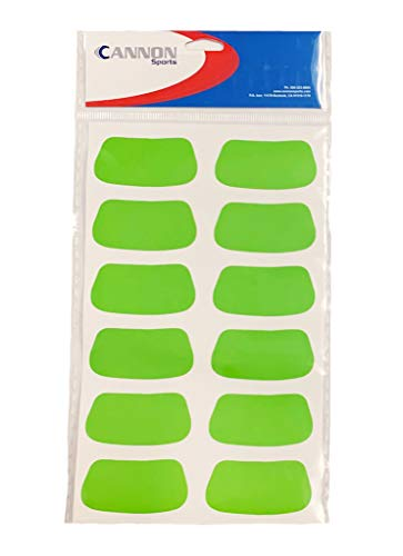 Cannon Sports Eye Black Stickers (Green, 6 Pair) ()