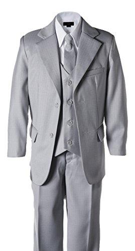 Toddler Light Grey 2 Button Wedding Suit Size 3T