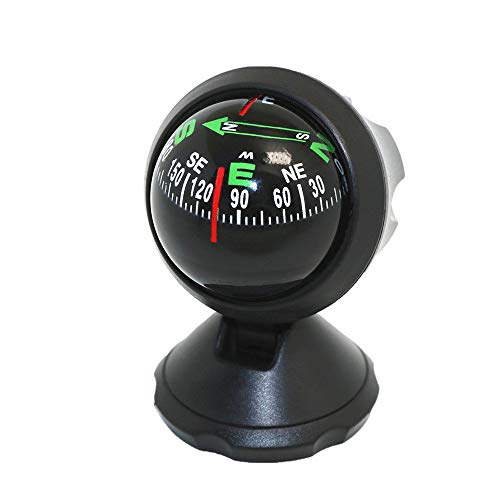 kbxstart Car Compass, Mini Compass Ball with Adhesive and Delicate Decoration for Most Boat Car - Compass Ball Decorations