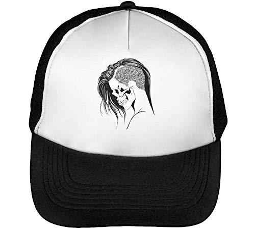 Skull Woman Portrait Gorras Hombre Snapback Beisbol Negro Blanco