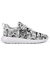 Men Cushioning Running Shoe Lightweight Lace Up Casual Sneakers Non-Slip Walking Shoes