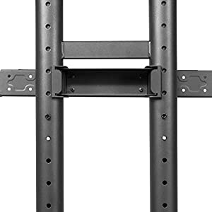 Kanto Mobile TV Stand with Adjustable shelf and flat screen mount – Fits 50″ to 82″ Monitors – Black