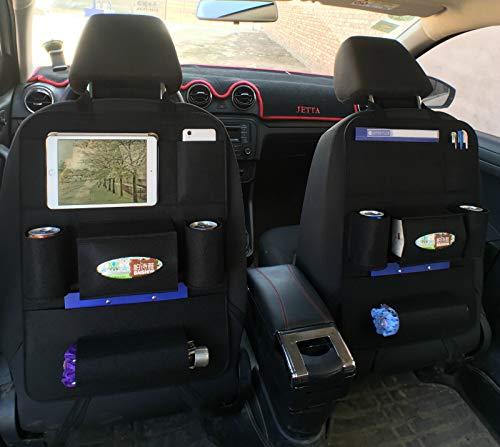 Organizador del asiento trasero del automóvil, Protector del organizador del asiento del automóvil con multifunciones...