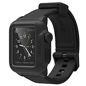 Apple Series 1 42mm Waterproof Watch Case by Catalyst, Shock Proof Premium Material Quality for Hiking, Swimming, Beach Trips, Kayaking, Cruise Accessories (Stealth Black)