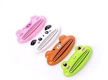 Risisung - exprimidor de tubo de pasta dental con motivo de dibujos animados, dispositivo para