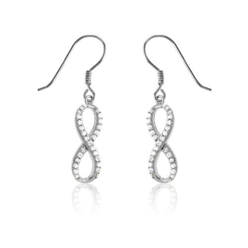 Sterling Silver Infinity Figure Earrings product image