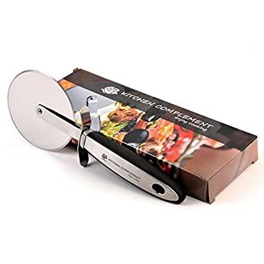 Kitchen Complement 3.54-Inch Stainless Steel Wheel and Build Pizza Cutter with e-book