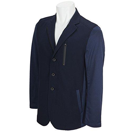 Charee Braver (チャーリーブレイバー) ジャージ鹿の子 ジップ ジャケット ZIP jacket 748506 (3(L), ネイビー)