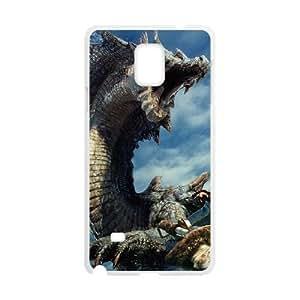 Samsung Galaxy Note 4 White phone case Monster Hunter Dinosaur Birthday gift Best Xmas Gift for Boy JFE4399083