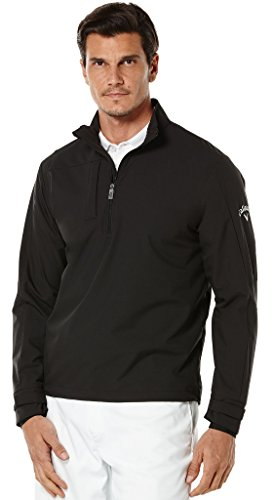 Callaway 1/4 Zip L/S Windshirt Caviar XXX-Large by Callaway (Image #1)
