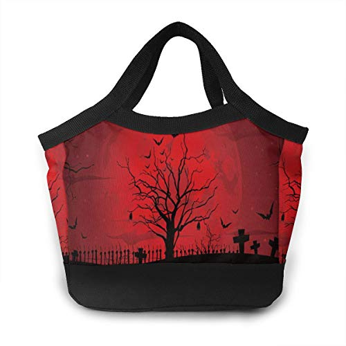 Insulated Lunch Portable Carry Tote Gothic Scary Halloween