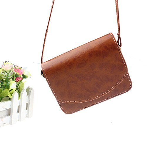 Rcool Handbag Women Shoulder Bag Satchel leather Women Imitation Retro Khaki Bag Bag Shoulder Messenger gqw4xZwES
