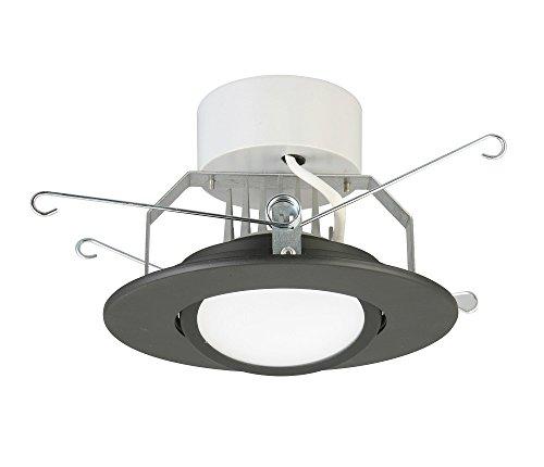 Lithonia Lighting 5 Inch LED Gimbal, Matte Black, Lower ()