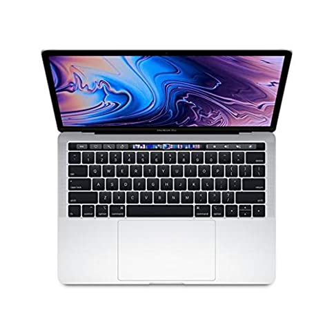 - 41LT4pxjhqL - Apple 13.3″ MacBook Pro w/ Touch Bar (Mid 2018), 227ppi Retina Display, Intel Core i5-8259U Quad-Core, 512GB PCI-E Solid State Drive, 8GB DDR3, 802.11ac, Bluetooth, macOS 10.13, Silver (Renewed)