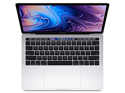 "Apple 13.3"" MacBook Pro w/ Touch Bar (Mid 2018), 227ppi Retina Display, Intel Core i5-8259U Quad-Core, 256GB PCI-E Solid State Drive, 8GB DDR3, 802.11ac, Bluetooth, macOS 10.13, Silver (Renewed)"