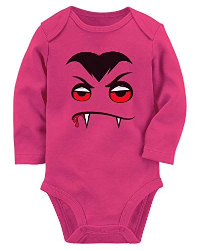 Tstars - Halloween Easy Costume Vampire Face Baby Long Sleeve Bodysuit 18M (12-18M) Wow Pink -