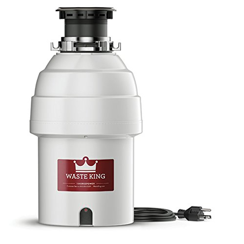 Waste King Legend Series 1 HP Garbage Disposal with Power Cord - (L-8000) (Power Series Compact)