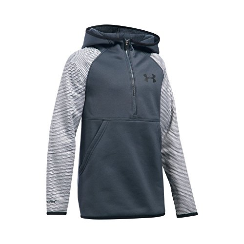 - Under Armour Girls' Armour Fleece Printed 1/2 Zip Hoodie, Stealth Gray/Black, Youth Large