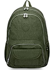 Oakarbo Backpack Multi-Pocket School Bag Nylon Travel Daypack
