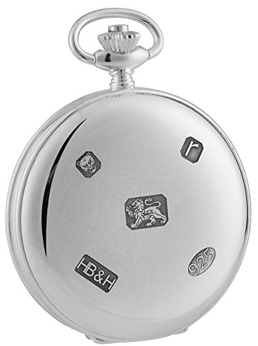(Woodford Mens Sterling Silver Full Hunter Pocket Watch - Silver)