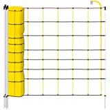 Filet mouton 50m H : 90cm noir/jaune EURONETZ 14 piquets simple pointe clôture électrique