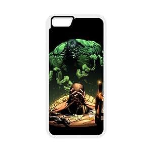iPhone 6 Plus 5.5 Inch Cell Phone Case White Superhero Captain America, Spider Man, Iron Man, Wolverine, ant man, Green Arrow, Batman, Joker Logo 66 Yuexh