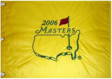 B009PIFTE0 2006 Masters Embroidered Golf Pin Flag - Phil Mickelson Champion 41LT65EZu9L.